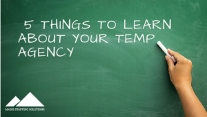 5 Things to Learn About Your Temp Agency
