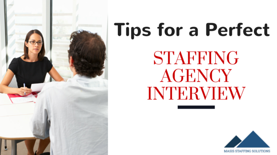 Interview with Staffing Agency