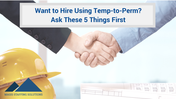 Hire Using temp-to-perm