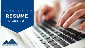 resume tips to get noticed