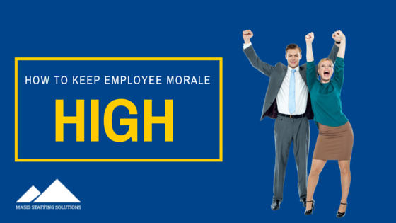 keep employee morale high