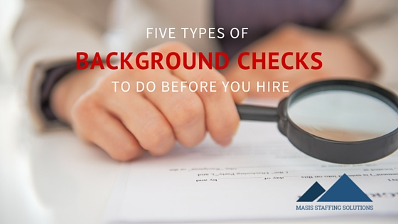 Five Suggested Background Checks
