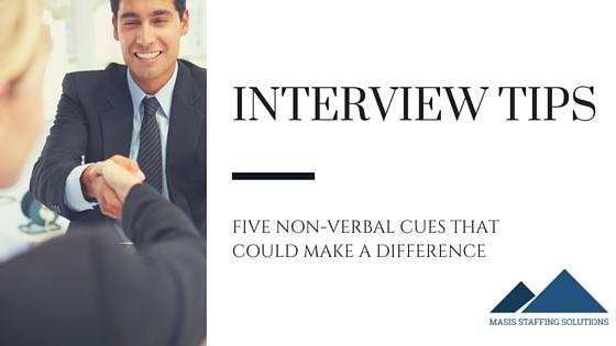 non-verbal interview tips