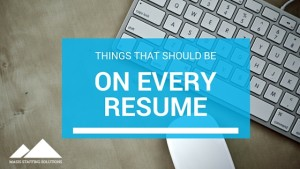 Things that should be on every resume