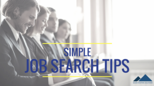 simple job search tips