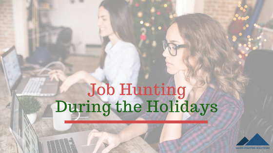 job hunting during the holidays