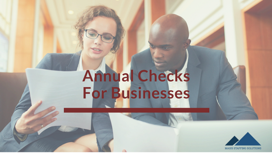 annual checks for businesses