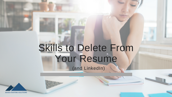 skills to delete from your resume