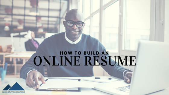 build an online resume