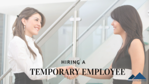 hiring a temporary employee